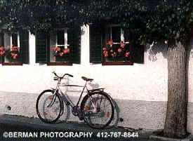 Click here to view the bike leaning against the wall